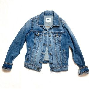 Old Navy Denim Jean Jacket Medium Light Wash
